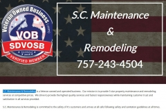S.C. Maintenance Remodeling | Veteran Owned Repair Business