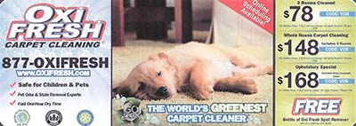 Oxi Fresh Coupon Flyer | Veteran Owned Carpet Cleaning Business