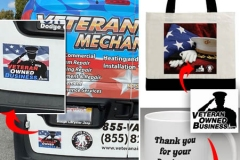 Veteran Air Mechanical Marketing Material | Veteran Owned Business Logo