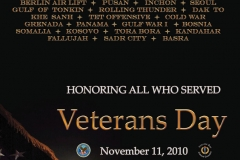 2010 Veterans Day Poster