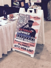 Veteran Owned Business Trade Show Sign