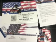 Veteran Owned Business Stickers and Certificate Packages for August 28th
