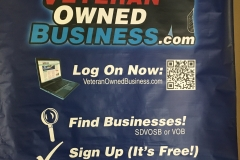 Veteran Owned Business Trade Show Large Banner