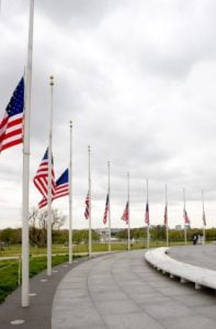 US Flags at Half-Staff