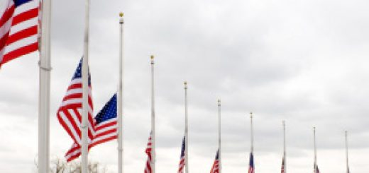 Flag at half staff alert