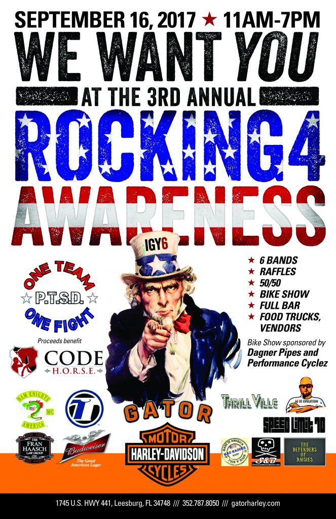 3rd Annual Rocking 4 Awareness on September 16, 2017