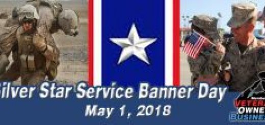 Silver Star Service Banner Day 2018