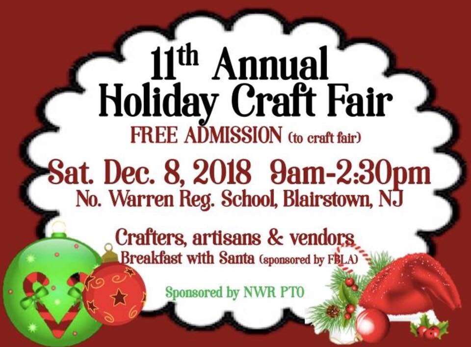 11th Annual Holiday Craft Fair at North Warren Regional School District
