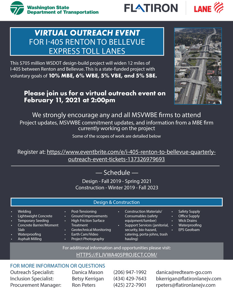 I-405 Renton to Bellevue Quarterly Outreach Event