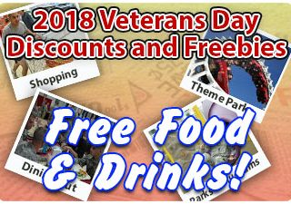 2019 FREE Meals and Discounts for Veterans Day Weekend