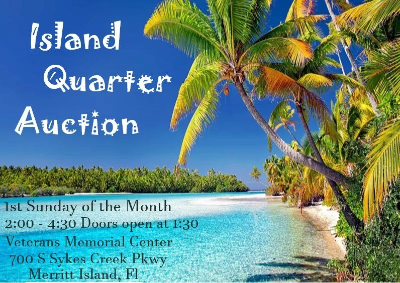 Island Quarter Auction at Veterans Memorial Center – Sykes Creek Parkway