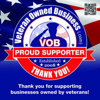 "Veteran Owned Business ""Thank You"""