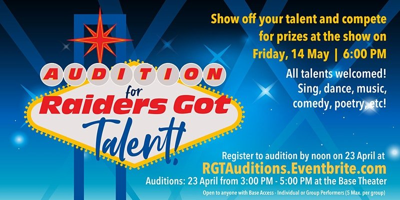 Raiders Got Talent – Auditions |Base Theater Ellsworth AFB