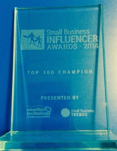 Veteran Owned Business Project has been named a Top 100 Champion in the 2014 Small Business Influencer Awards