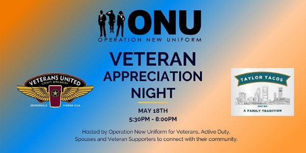Veteran Appreciation Night by Operation New Uniform | Veterans United Craft Brewery