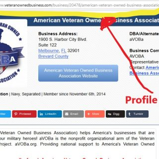 Veteran Owned Business Profile Link Address