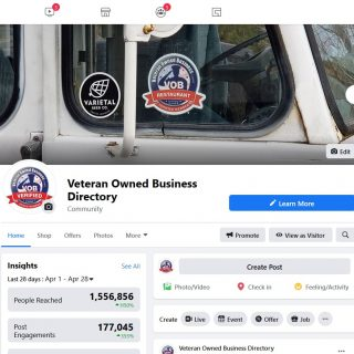 Vetran Owned Businesses on Facebook