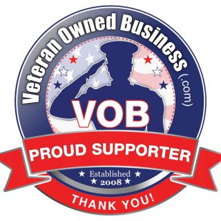 "Veteran Owned Business Project ""Proud Supporter"" Badge"