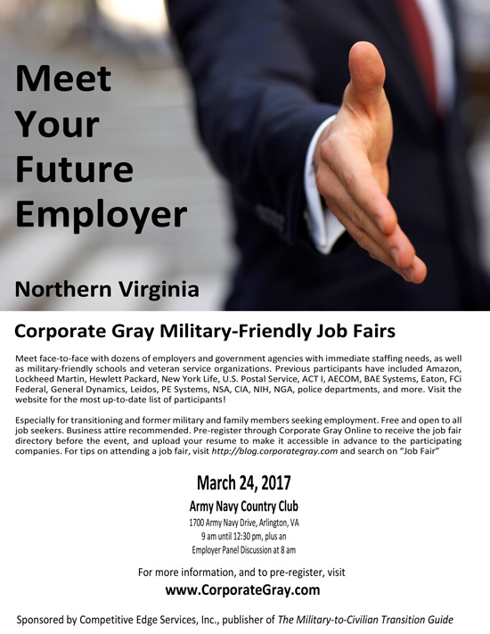 Meet Your Future Employer – Corporate Gray Military-Friendly Job Fair