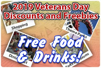 2019 Veterans Day FREE Food and Drinks